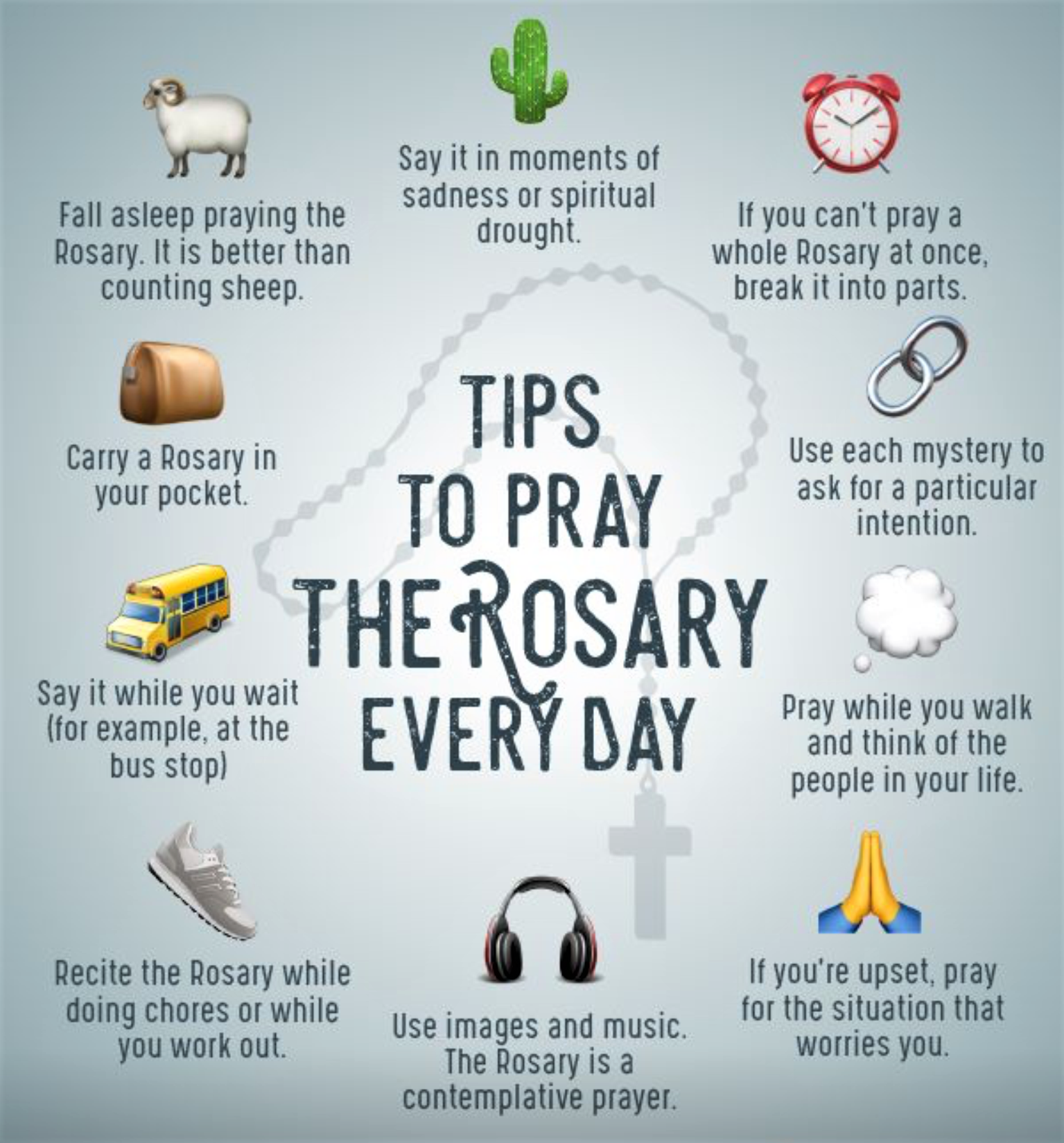 Helpful Hints for praying the Rosary.